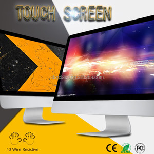 Used desktop computer 4GB SATA 23.6 inch monitor 1920*1080 HD display touch screen AIO pc with WIN 7 8 system DDR3 RAM