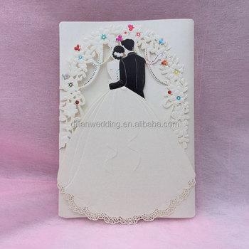 2017 latest romantic bride and groom wedding card designs