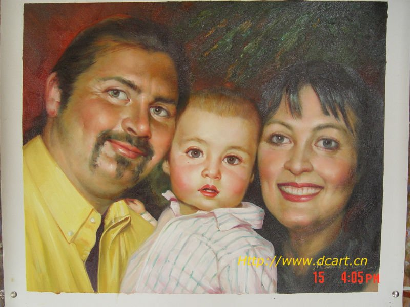 Family Photograph Art Oil Painting