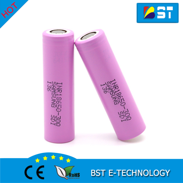 18650 High Capacity 3000mAh Samsung 30Q INR18650-30Q INR Lithium 3.6V rechargeable battery