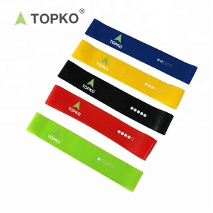 Wholesale custom latex exercise resistance band set with mesh bag