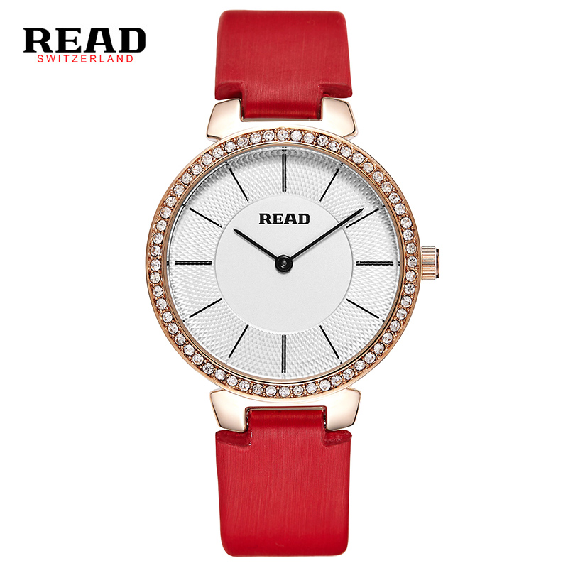 Read 28055 Custom Diamond Watch Analog Miyota Quartz Movt Wateproof OEM Logo Women Watches 36mm Custom Logo Ladies Wristwatch