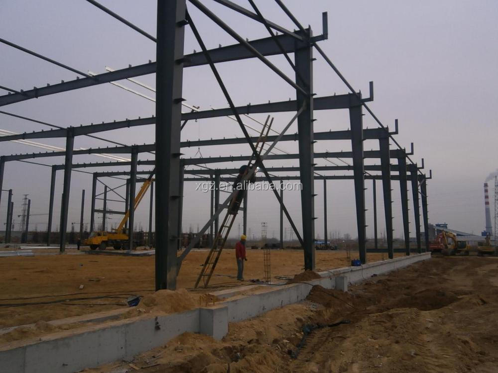 steel structural frame warehouse construction steel bracing