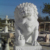 Chinese traditional outdoor life size white marble lion sculpture