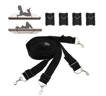 Novelty Heavy Furry Bdsm Furniture Strap Belt Under Bed Bondage