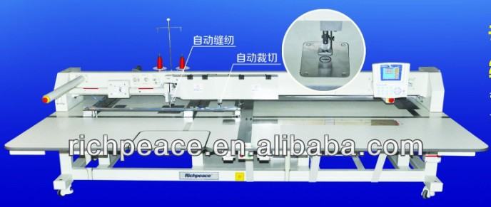 Richpeace High Speed Template Sewing Machine sewing and cutting can be finished one time