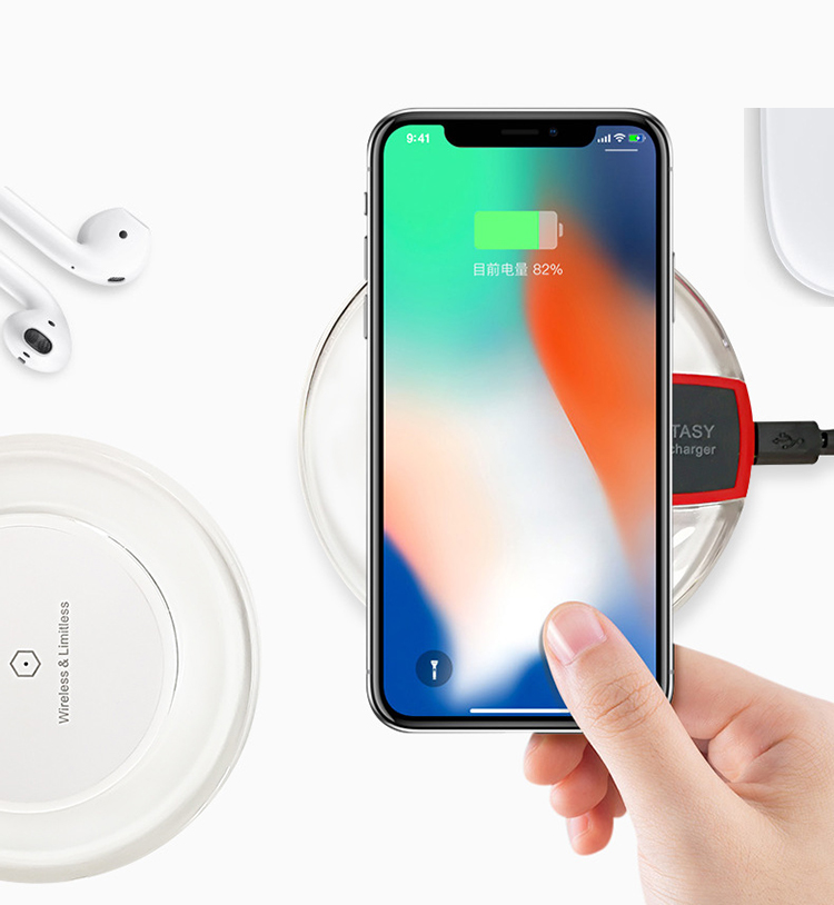 2018 Factory Direct Plastic ABS Long Distance Fantasy Wireless Charger Pad for iphone X