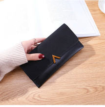WA102 2018 lady Wallets PU Leather Long Wallet Portable Cash Purses Casual Standard Wallets
