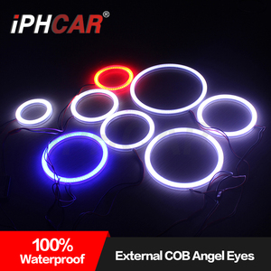Super bright car LED COB angel eyes lighting halo rings for universal cars