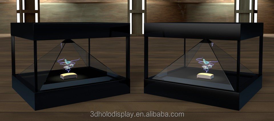 4 Sides 3D Holographic Display,Advertising Player with HD Resolution