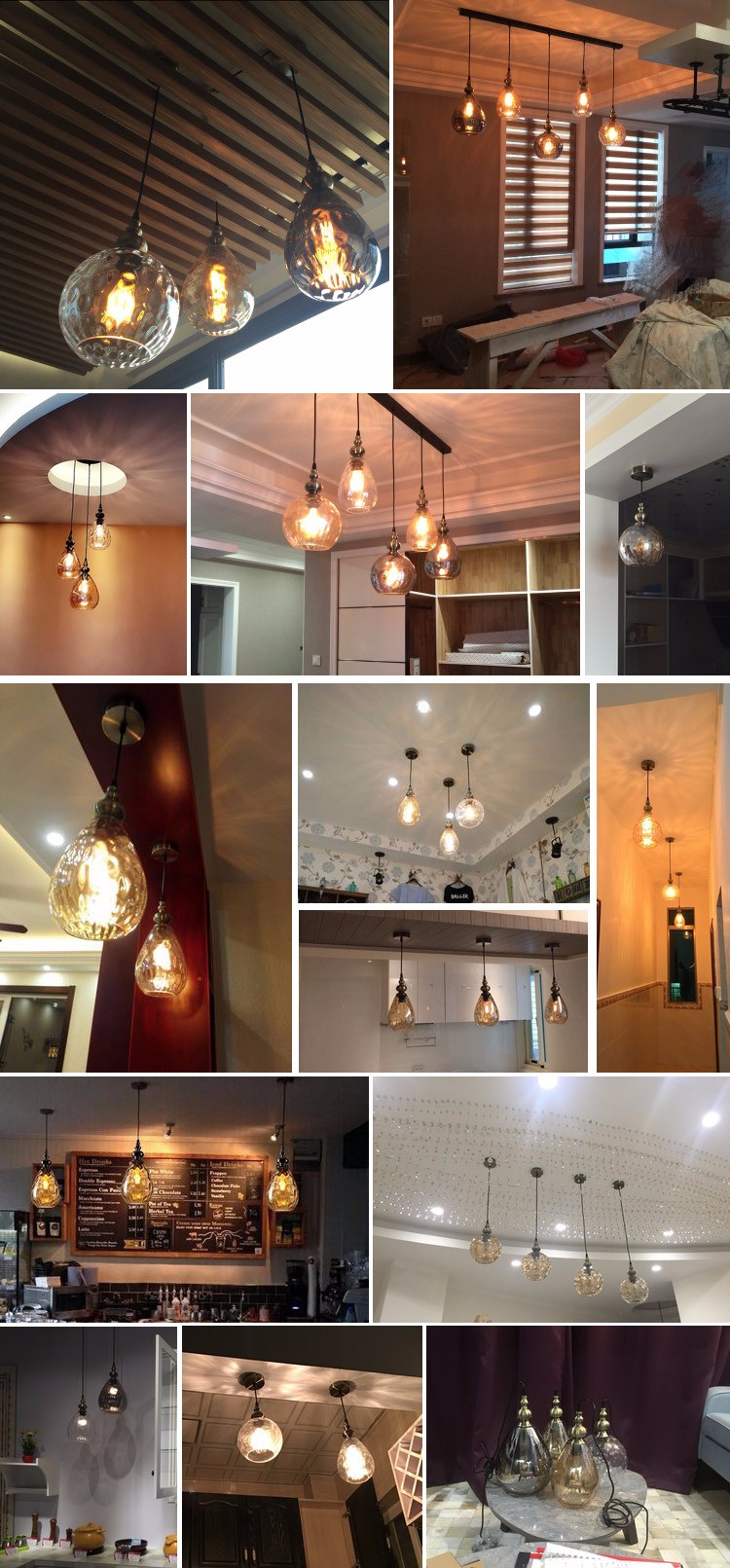 Canada industrial style hanging lighting vintage glass