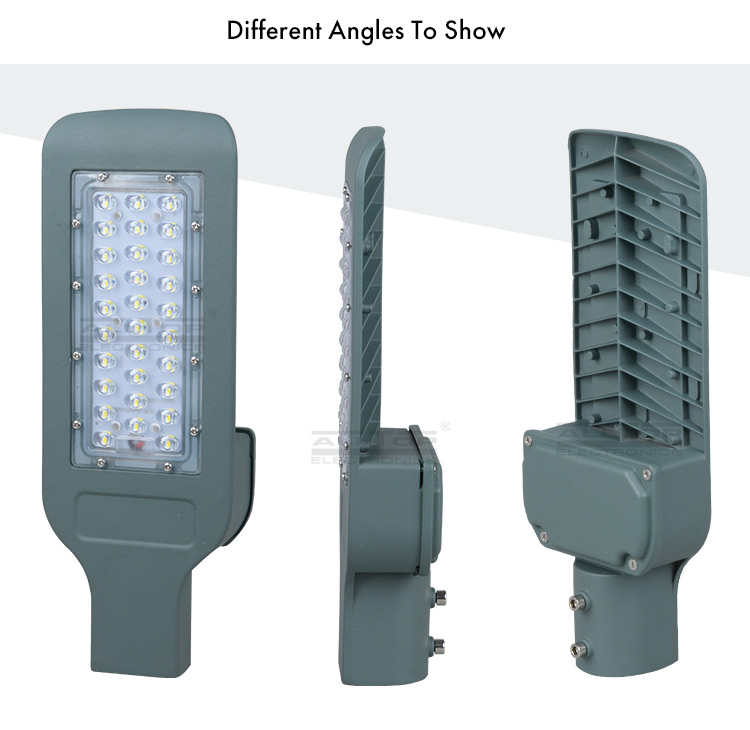 Outdoor Adjustable angle 30w 40w 60w integrated aluminum led solar street light