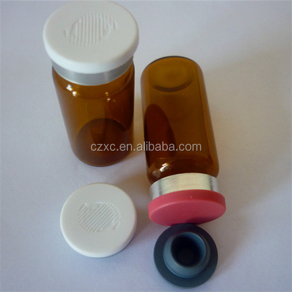 2ml/5ml/7ml/10ml small volume glass vial bottles/butyl rubber stopper/flip off seal