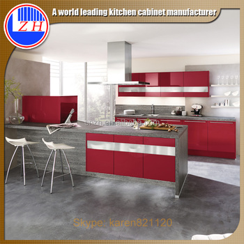 Wholesale High Gloss Red Dhaka Bangladesh Kitchen Cabinets View Kitchen Cabinets Dhaka Bangladesh Zhihua Product Details From Guangzhou Zhihua Kitchen Cabinet Accessories Factory On Alibaba Com
