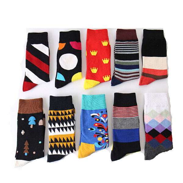 OEM fashion business men socks cotton happy funny socks