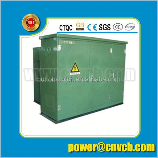Prefabricated Pad mounted 33KV compact electric transformers substation power substation equipment