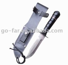 Hunting Knife with with Fitted Heavy Duty Plastic Sheath