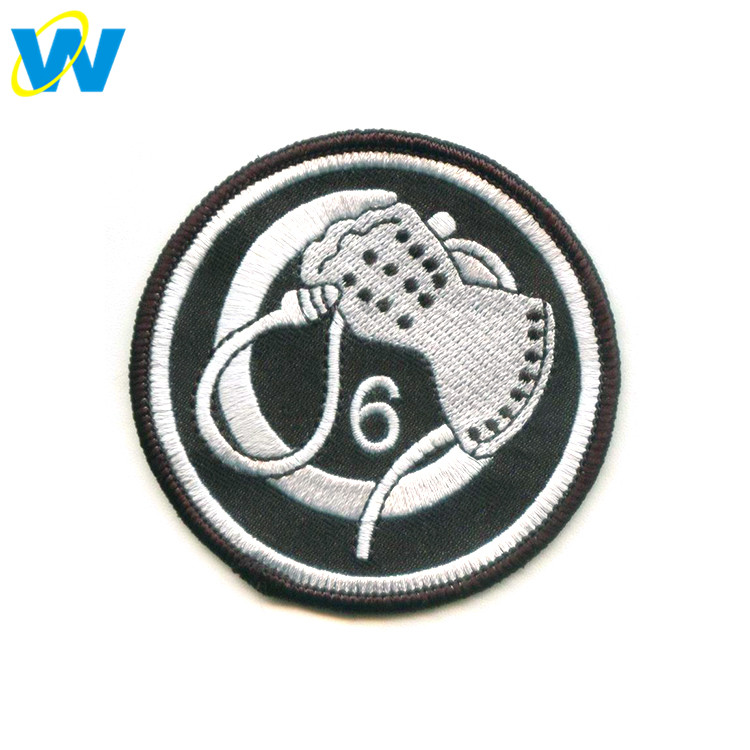 Custom applique embroidery patch