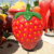 Outdoor Garden Decoration Fiberglass Cartoon Strawberry Fruit Sculpture