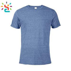 Plain Men's Snow Heather Fitted T Shirt Short Sleeve Crew Neck T-Shirts for Men