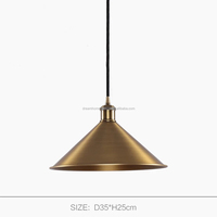 Industrial Vintage Brass pendant lighting lamps and light