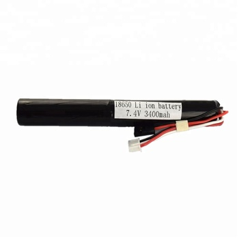 Lithium ion battery 7.4v 3400mAh li-ion battery pack 18650