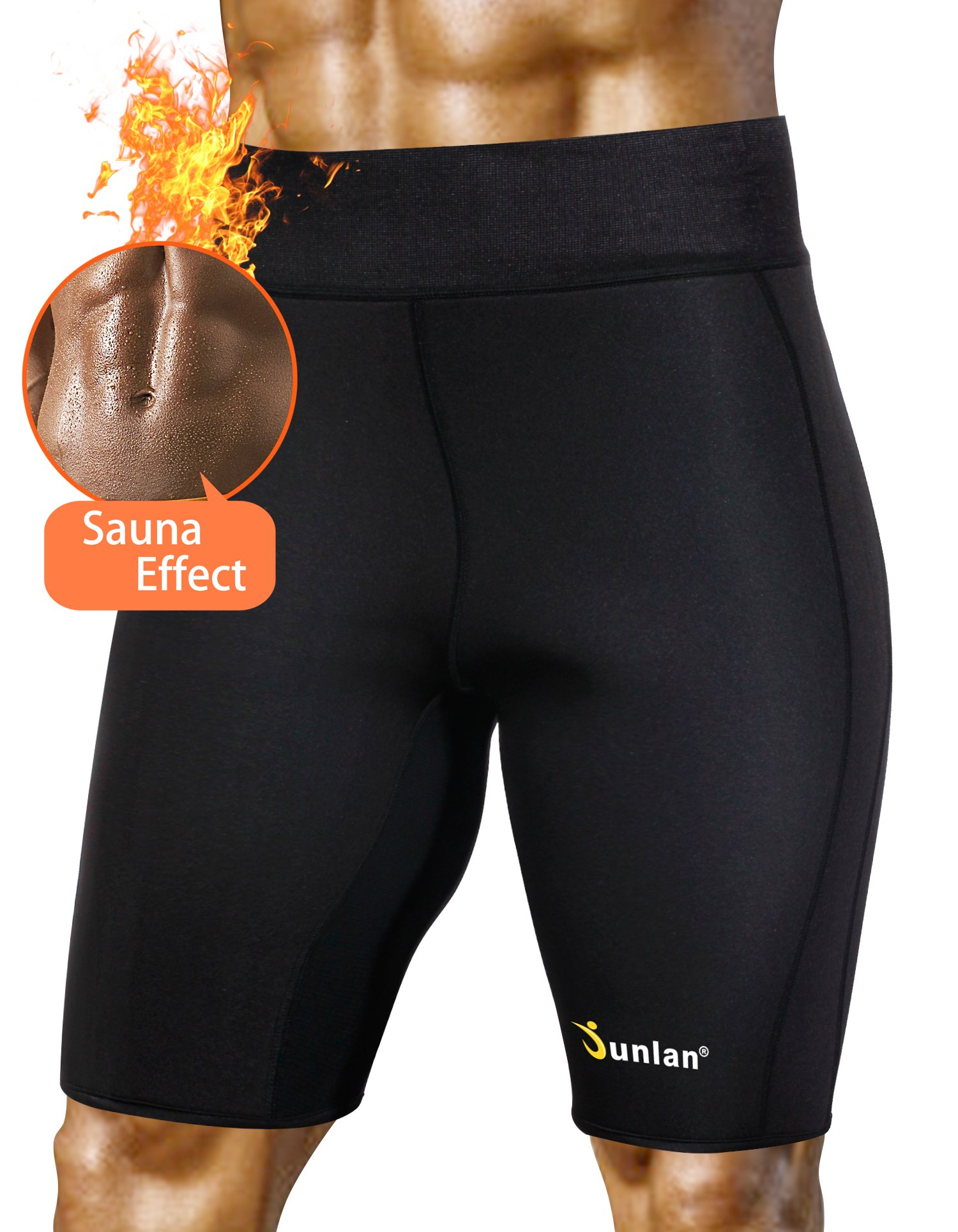 Men'S Weight Loss Sauna Hot Sweat Thermo Shorts Body Shaper Neoprene Athletic Yoga Pants Gym Tummy Fat Burner Slimming