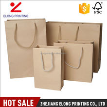 Latest product trendy style large paper shopping bags with handles