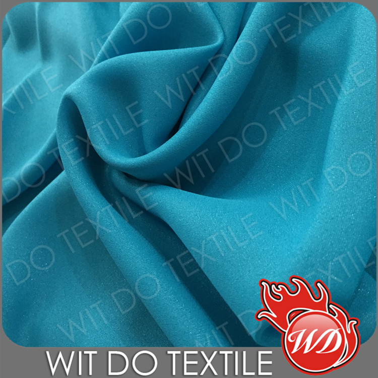 ShaoXing 100% polyester wool dobby plain georgette fabric for dresses