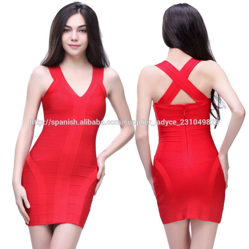 6a5fc8aa8 nueva fecha de llegada señoras atractivas patrones vestido rojo de fiesta  corto apretado