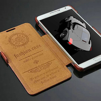 Newest mobile phone leather flip phone cover cases for Samsung galaxy note 3 Express shipping for factory price