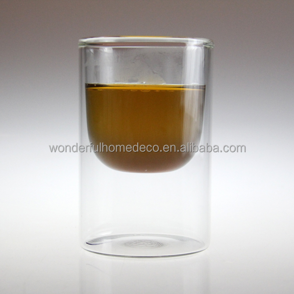 2oz heat resistant insulated glass espresso cups/handmade espresso cup/clear glass espresso cups
