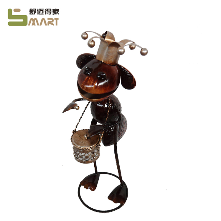 Custom Artificial Metal Figurine iron garden decor ants