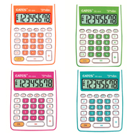 Promotion Gift 8 Digits Colorful Mini Size General Purpose Calculator Good Quality Transparent Keys Office Electronic Calculator