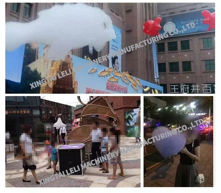 Wedding party use helium foam cloud machine
