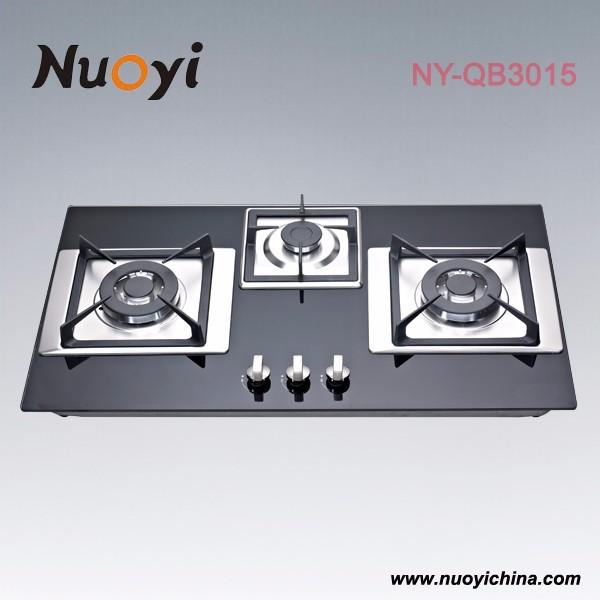 Three burner gas cooktops