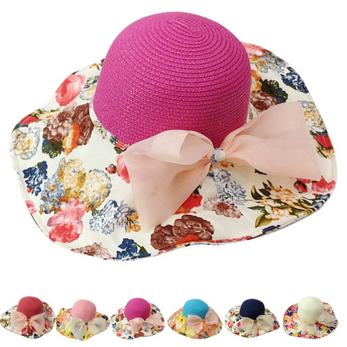 3ad9e2af66327 Get Quotations · SPLENDID FASHIONABLE Female Summer Straw Hat Ornament Bow Sun  Hat Foldable Beach SUN PROTECTION CAP
