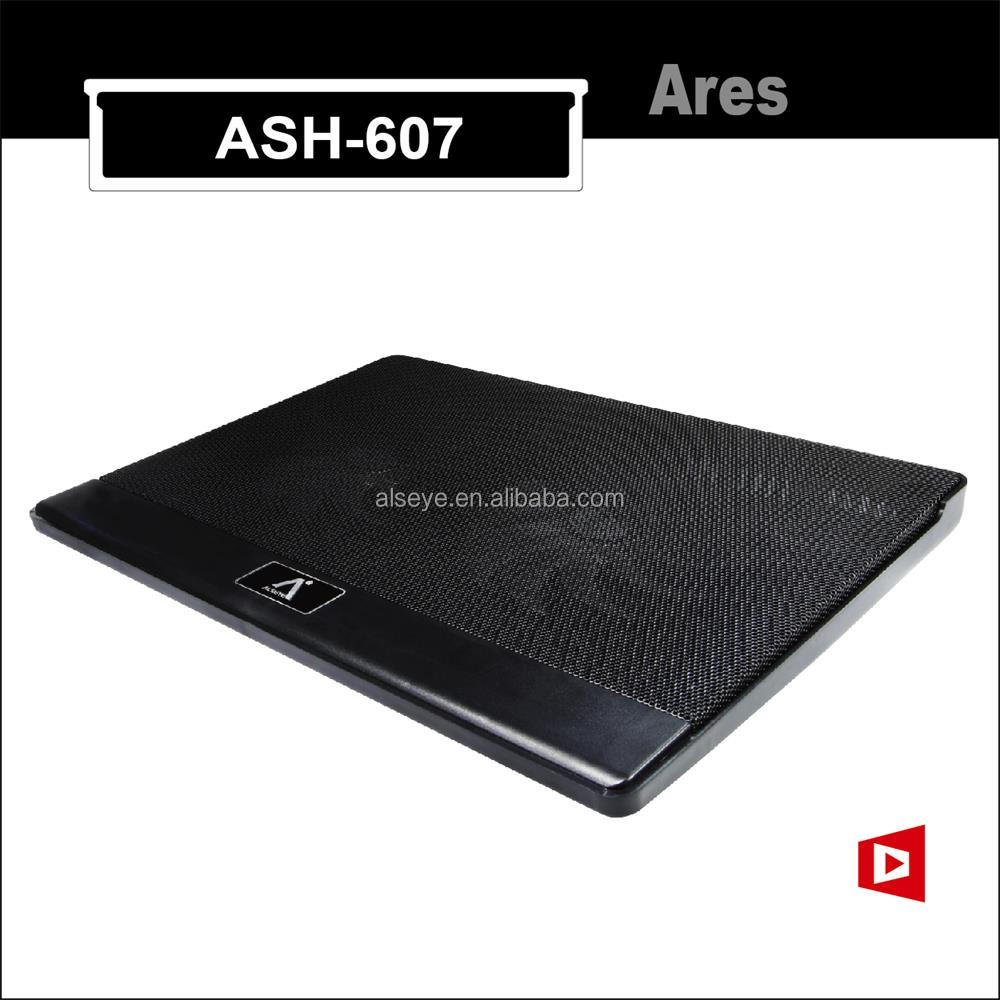 Alseye Ares / ASH-607 manufacture hot selling factory price 2 fan electric laptop cooling pad cooler