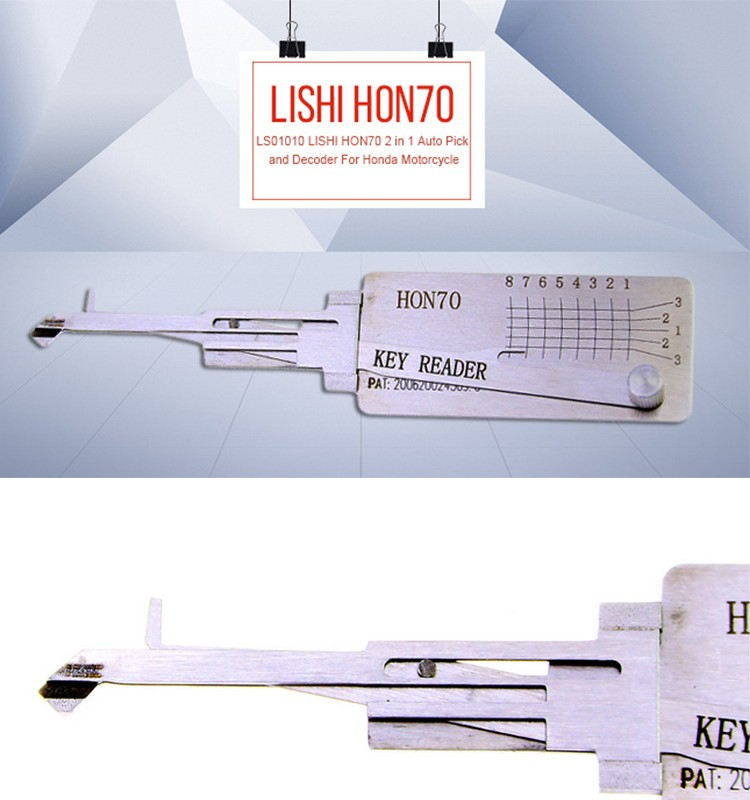 HON70 key decoder tool For Motorcycle 2 in 1 Auto Pick and Decoder LS01010