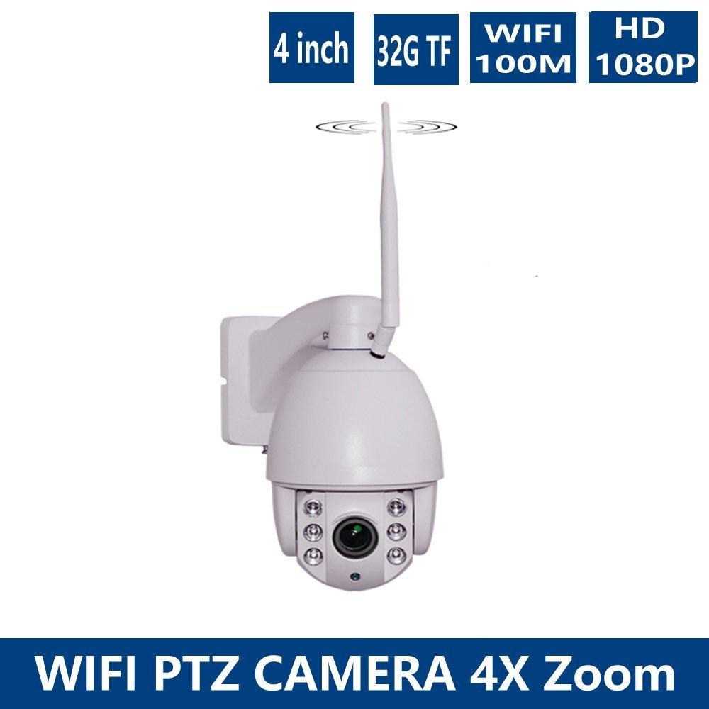 1920*1080 WIFI P2P 2.0MP Full HD IP Camera 1080P Outdoor Waterproof IP66 Pan/Tilt/Zoom Mini Bullet WiFi Wireless IP PTZ Camera 32G TF card