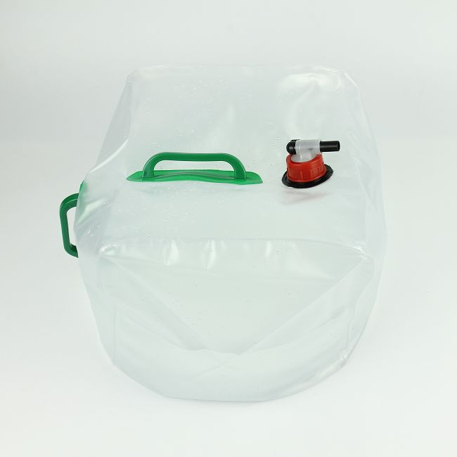 Foldable Portable Water Carrier Bag Food Grade Emergency Cube Water Bag - Outdoor Collapsible PVC Water Storage Container