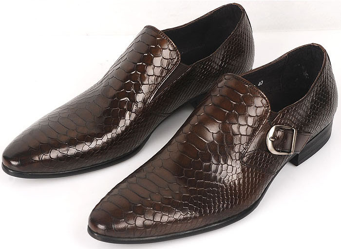 New 2015men's shoes oxfords top quality brown&black cowhide genuine leather men shoes mens snake skin shoes size:6.5-11 OX35