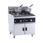 2x28 Liters Restaurant Hotel Heavy Duty Stainless Steel Commercial Industrial Electric Potato Big Deep Fryer