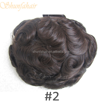 6 Inch Fine Mono Black Men Wig And Patches