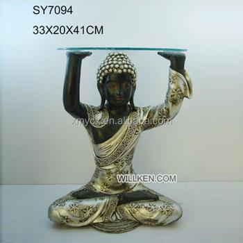 Interieur Fait A La Main Decoration Table Basse Avec Statue De Bouddha Buy Table Basse De Bouddha Product On Alibaba Com