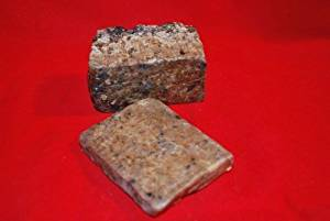 Raw African Black Soap in a Sealed Bag 1lb