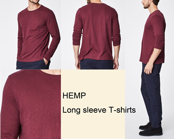 O-neck classic plain t-shirt durable hemp and organic cotton blend weekend style hemp clothing