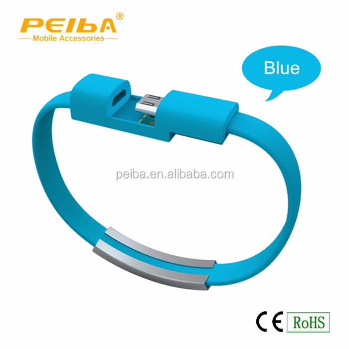 Latest usb cable charger 2016 Cool Bracelet USB data cables with Metal Buckle