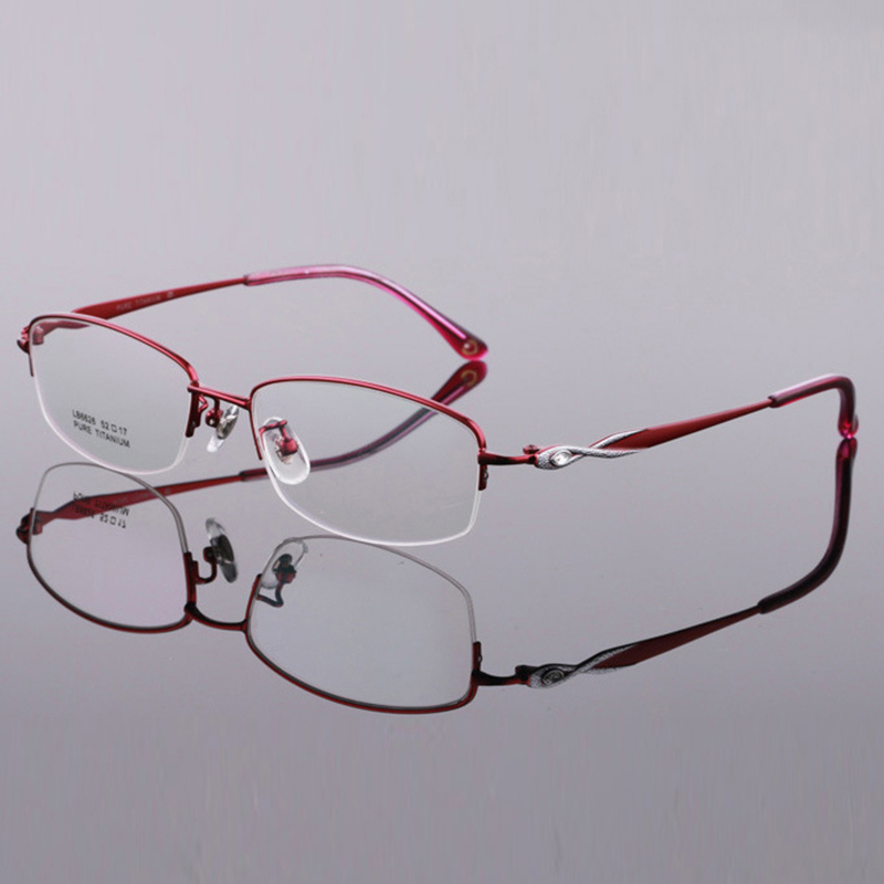 低 MOQ 眼鏡新トレンド女性の純チタン眼鏡フレームブランドデザイン超軽量女性光学フレームダイヤモンド