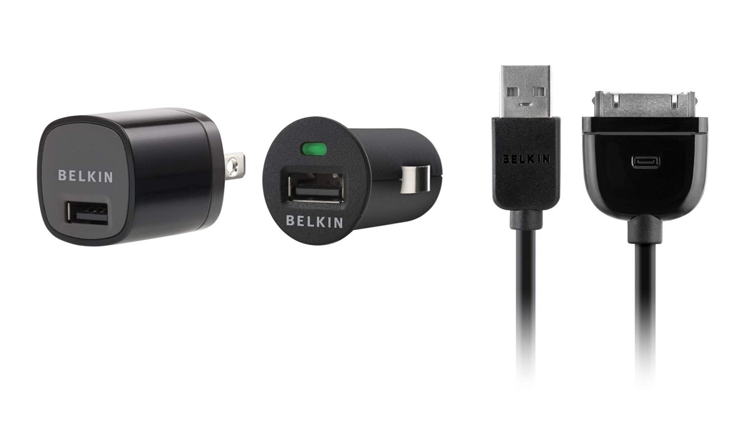 Belkin USB Charging Kit with Wall Charger and Car Charger for Apple iPhone (Black)